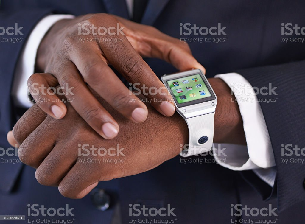 Setting the time stock photo