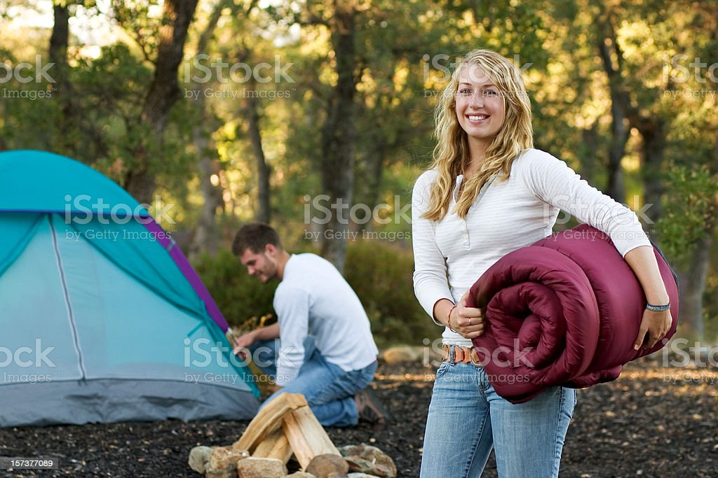 Setting Up Camp royalty-free stock photo