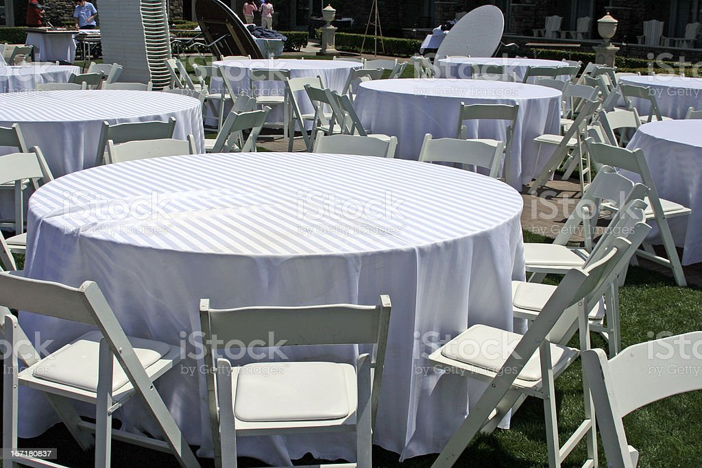 Setting Up for the Main Event royalty-free stock photo
