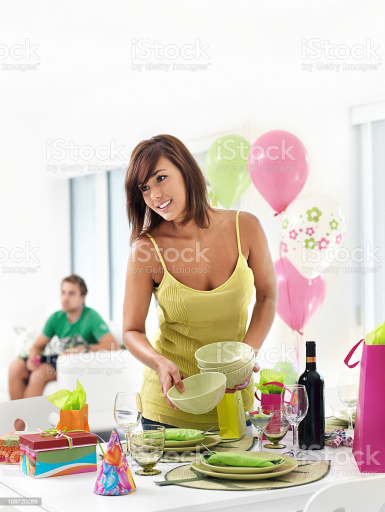 Setting up party royalty-free stock photo