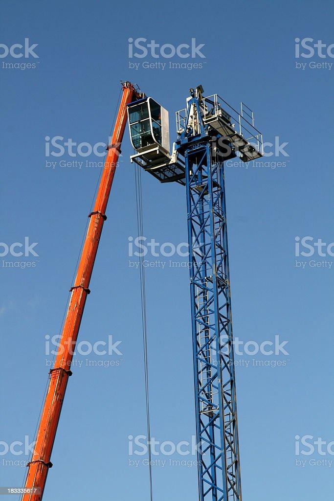 Setting up the construction crane royalty-free stock photo