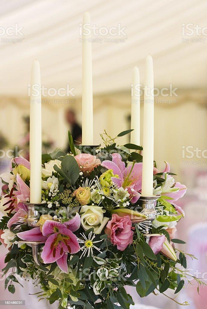 Setting Up Wedding Reception royalty-free stock photo