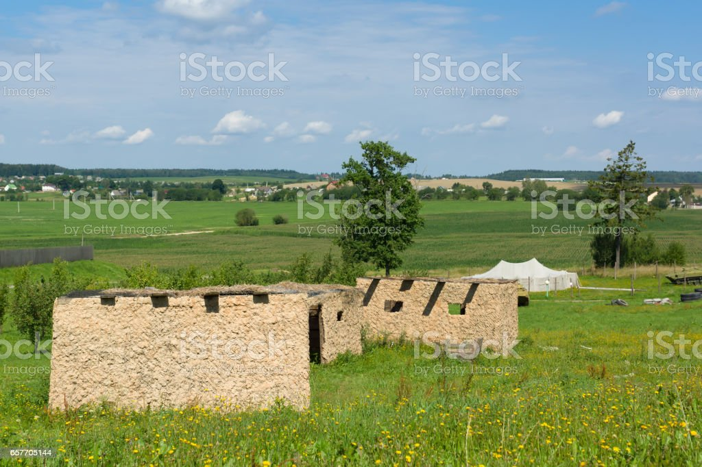 settlement of the armed stock photo