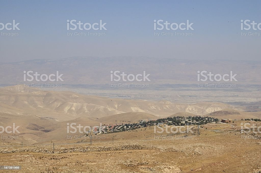 Settlement on the hill royalty-free stock photo
