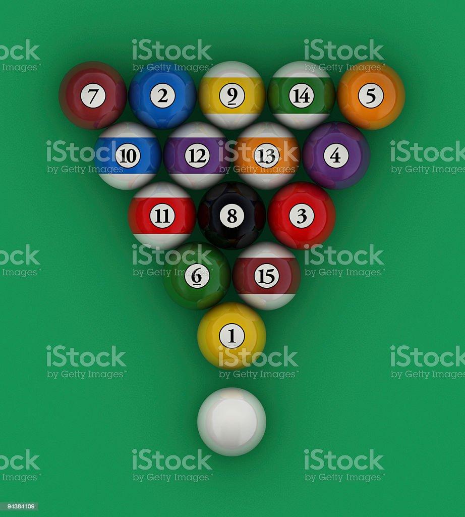 Amazing Setup Pool Balls Billiard Stock Photo 94384109   IStock