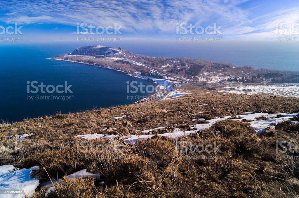 Sevan lake stock photo