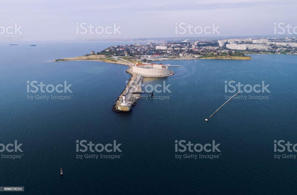Sevastopol from aerial view stock photo
