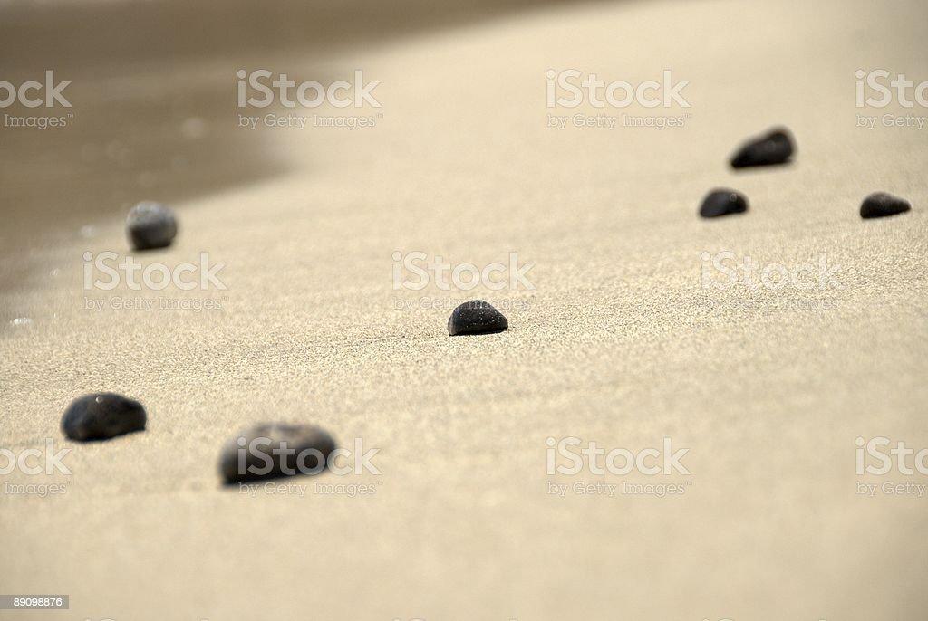 Seven beach stones (pebbles) royalty-free stock photo