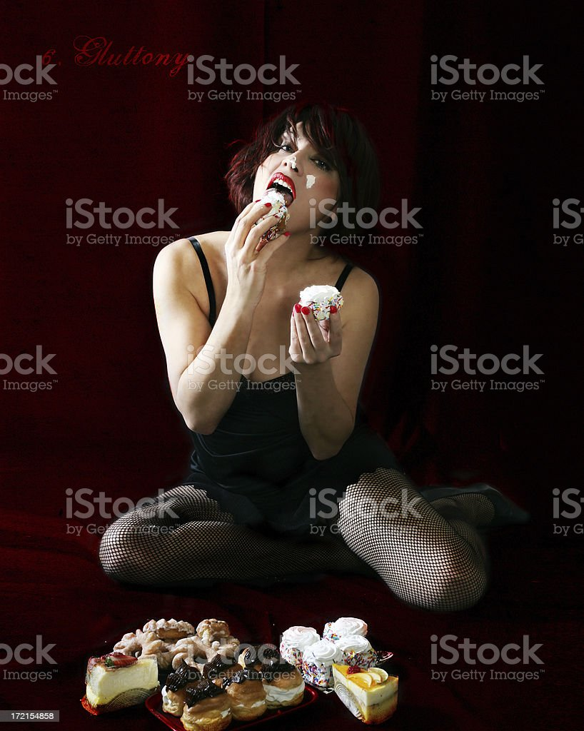 Seven Deadly Sins : Gluttony royalty-free stock photo