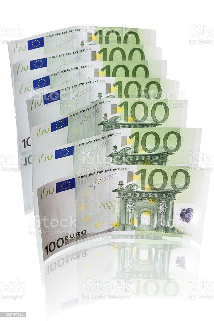 Seven Euro note royalty-free stock photo