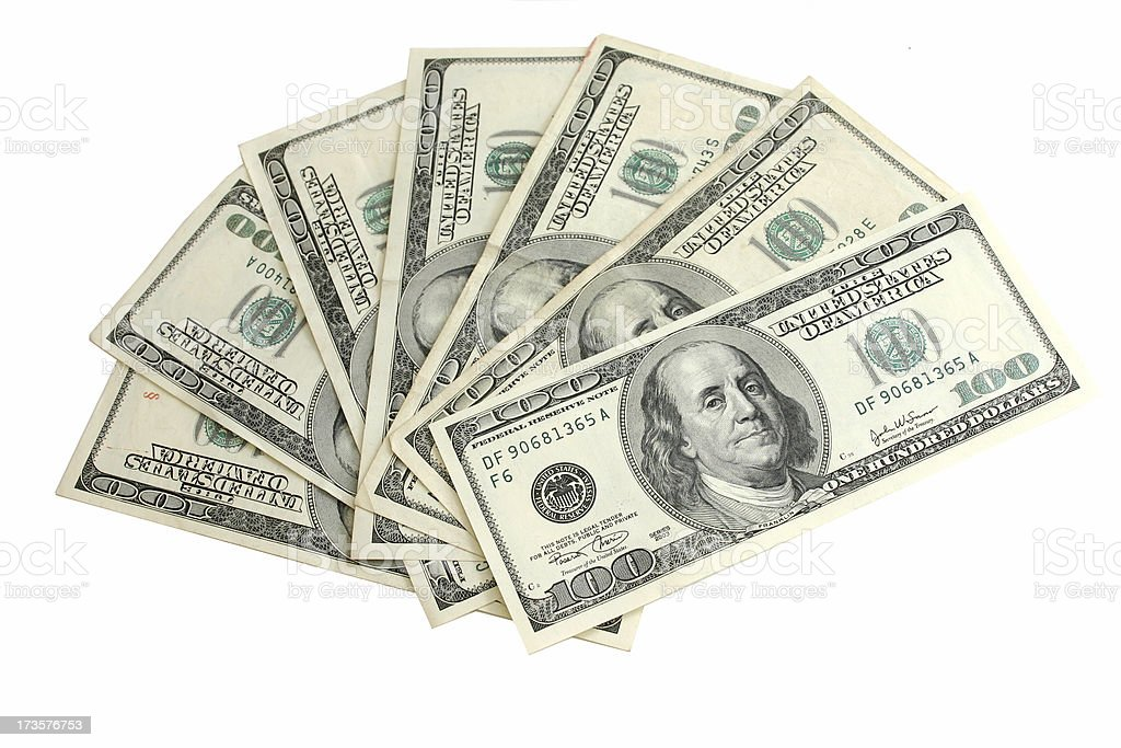 seven hundred american dollars royalty-free stock photo