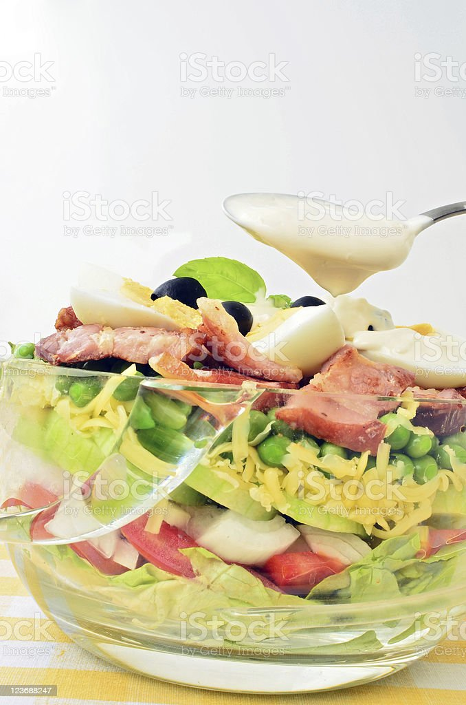 Seven layer salad royalty-free stock photo