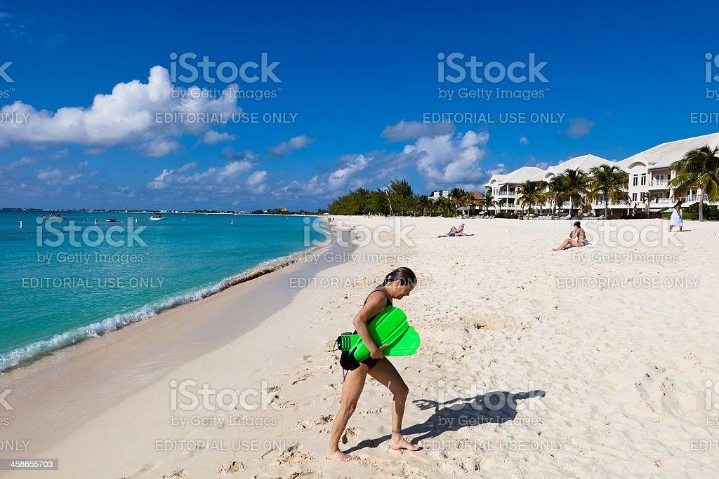 Seven Mile Beach, Grand Cayman stock photo