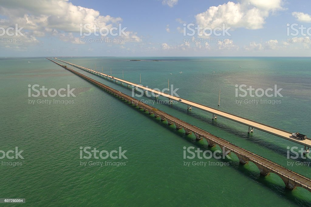 Seven Mile Bridge Florida Keys stock photo