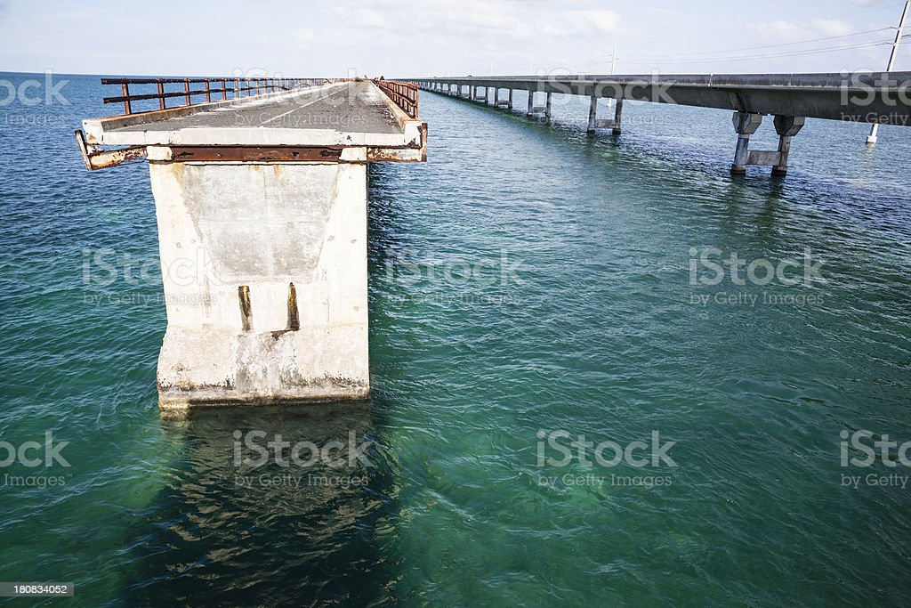 Seven Mile Bridge oversea in Florida Keys, Southern USA royalty-free stock photo