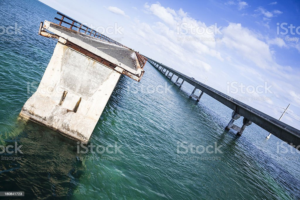 Seven Mile Bridge oversea in Florida Keys, Southern USA stock photo