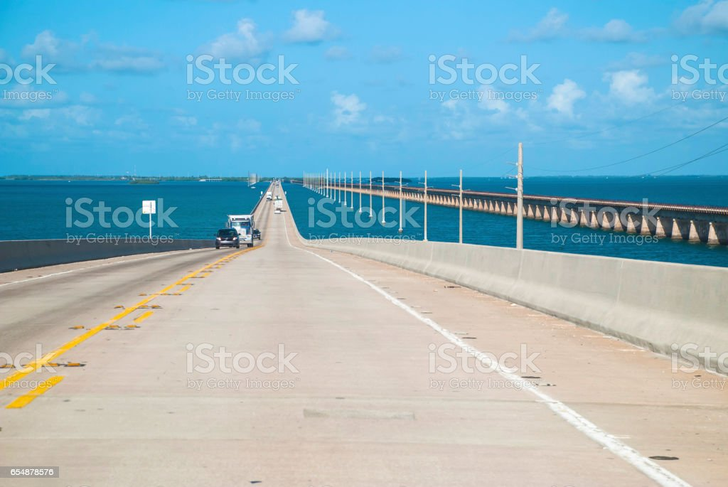 Seven Mile Bridge, the Keys stock photo