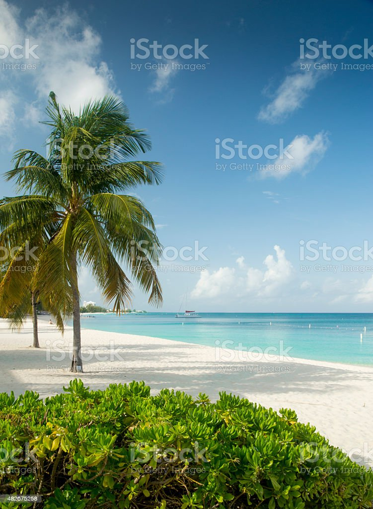 Seven Miles Beach on Grand Cayman Island stock photo