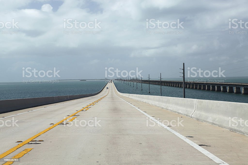 Seven miles bridge stock photo