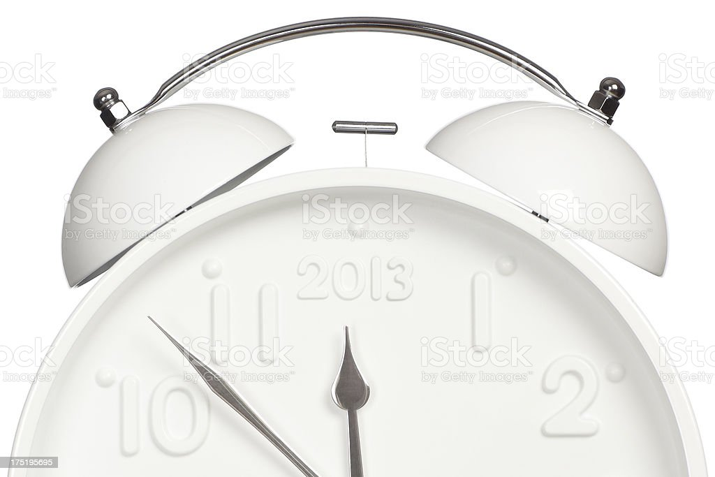Seven minutes before twelve.  2013 new year is coming! stock photo
