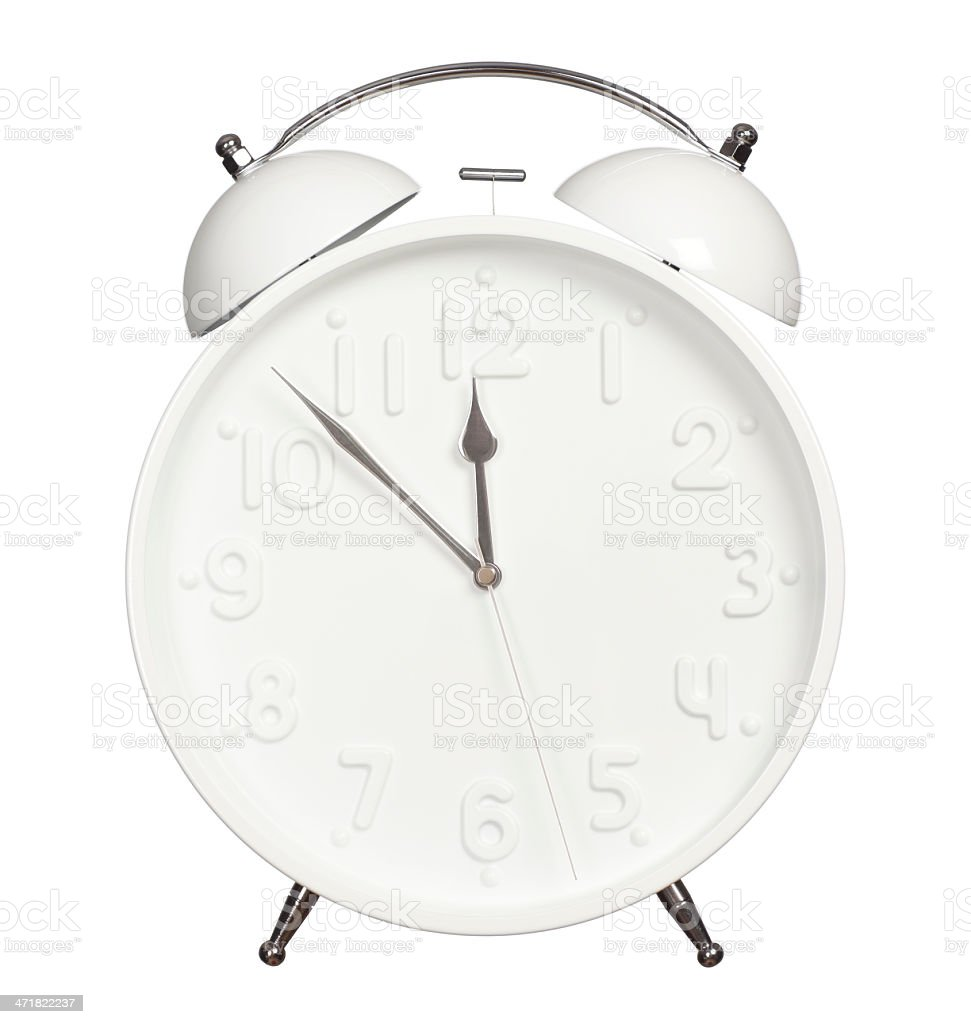 Seven minutes before twelve. royalty-free stock photo