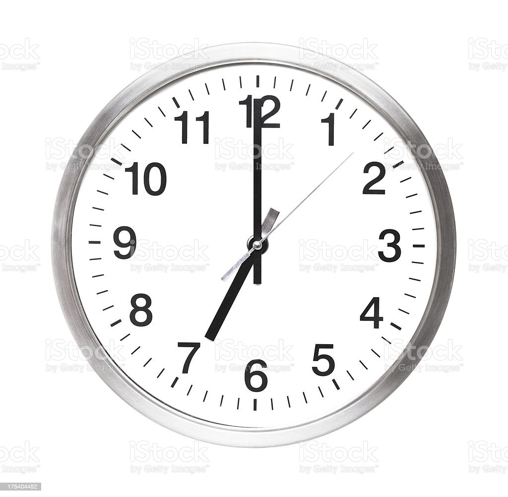 seven o'clock royalty-free stock photo