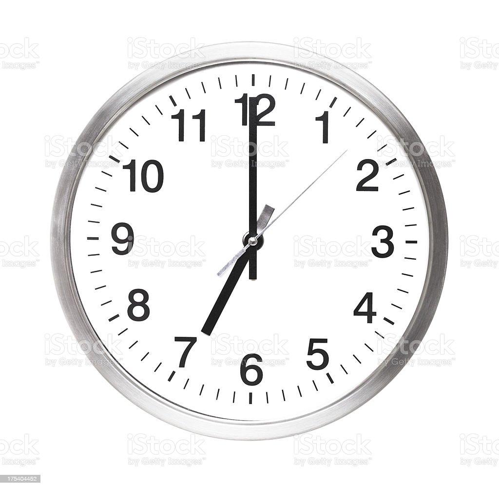 seven o'clock stock photo