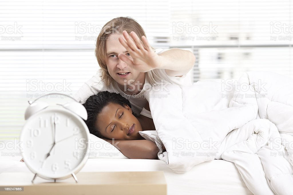 Seven o'clock - time to get up. stock photo