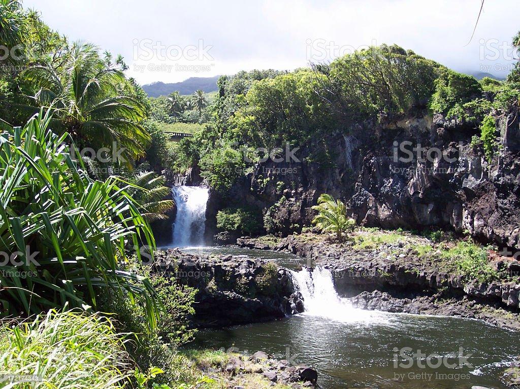 Seven Sacred Pools Haleakala National Park Maui Hawaii stock photo