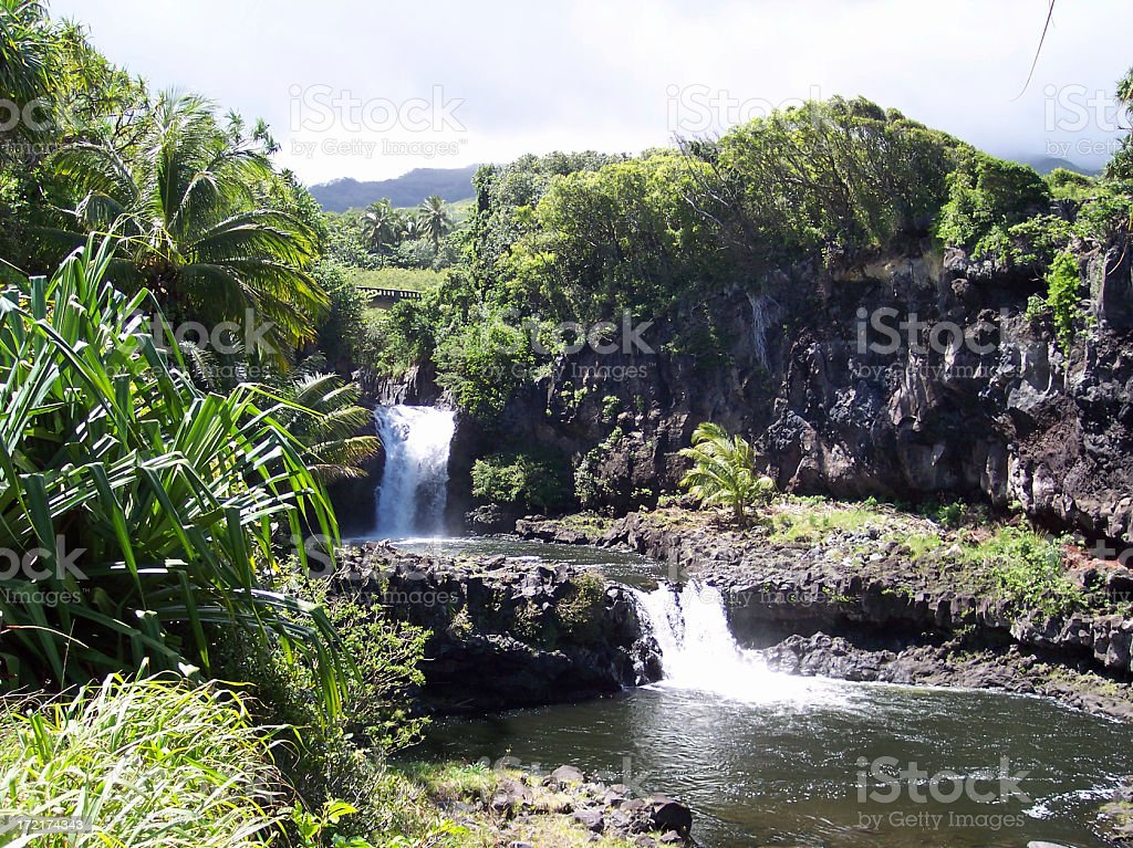 Seven Sacred Pools Haleakala National Park Maui Hawaii stock photo