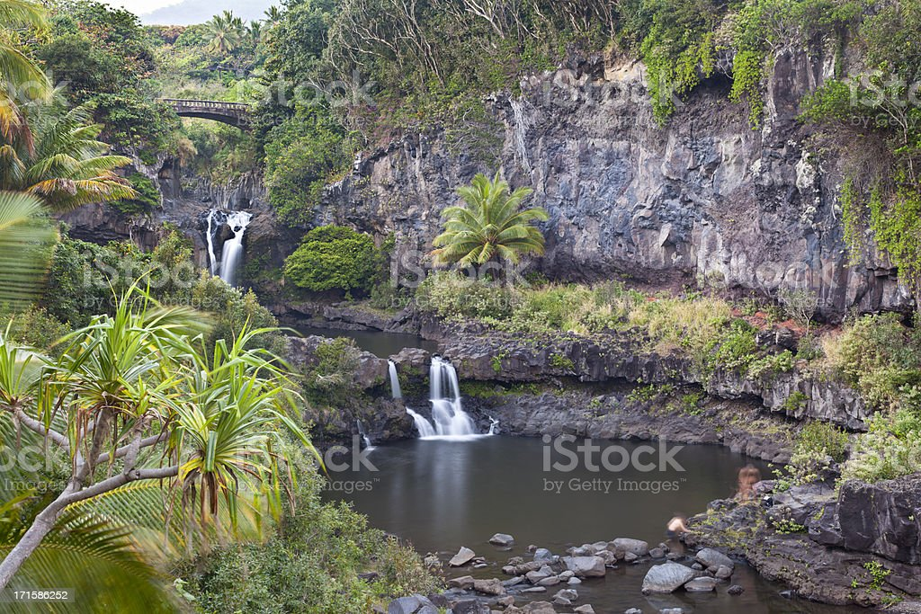 Seven Sacred Pools, Maui stock photo