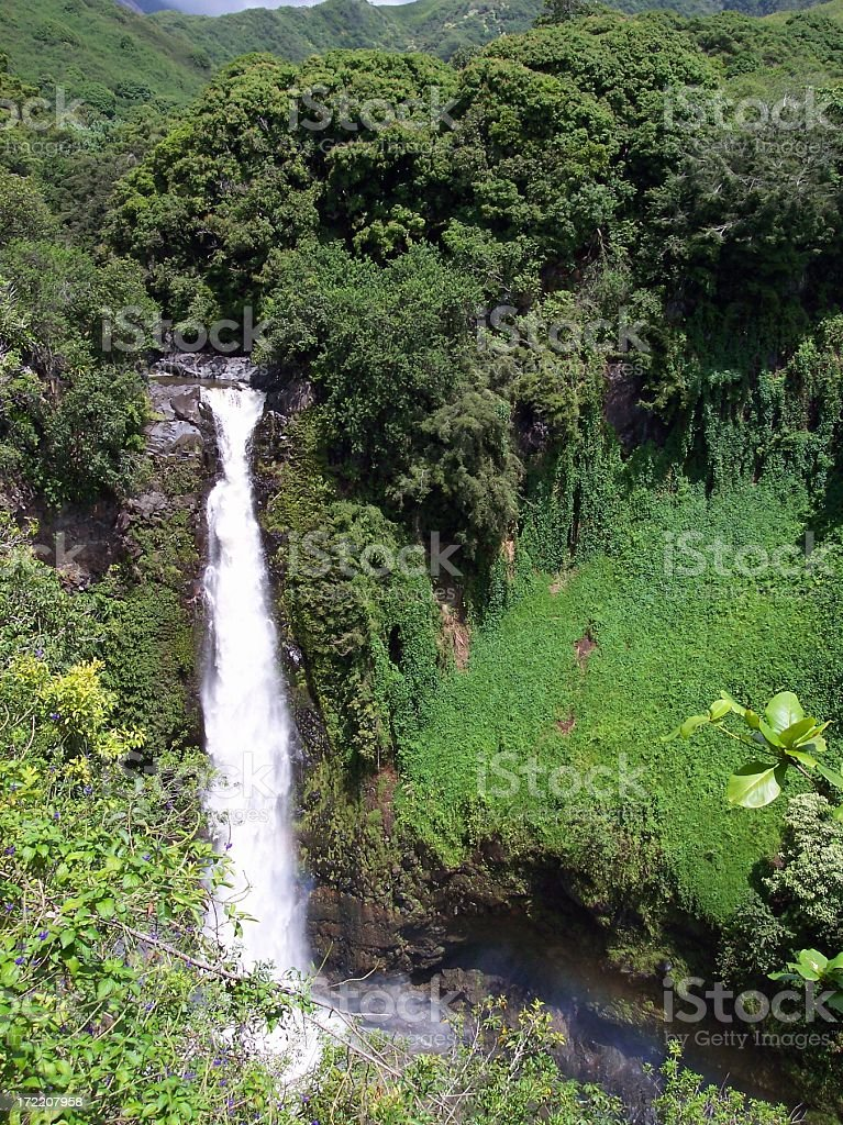 Seven Sacred Pools  Waterfall, Maui royalty-free stock photo