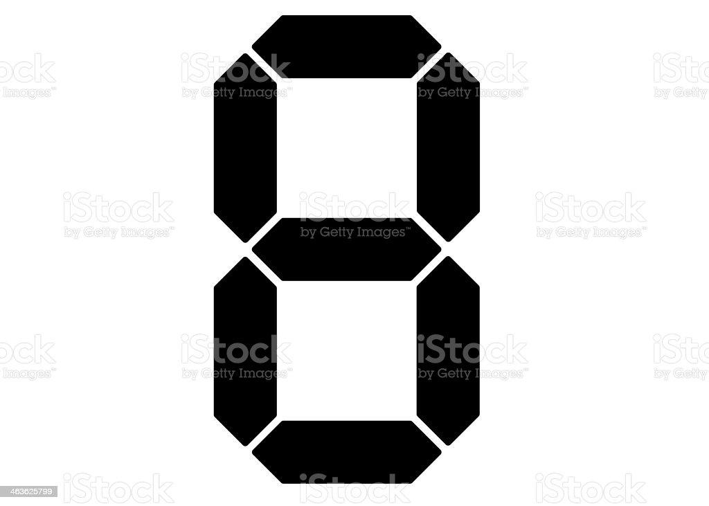 Seven segment display stock photo