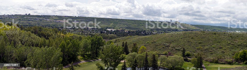 Seven Shot Calgary Panorama From North To SouthWest stock photo
