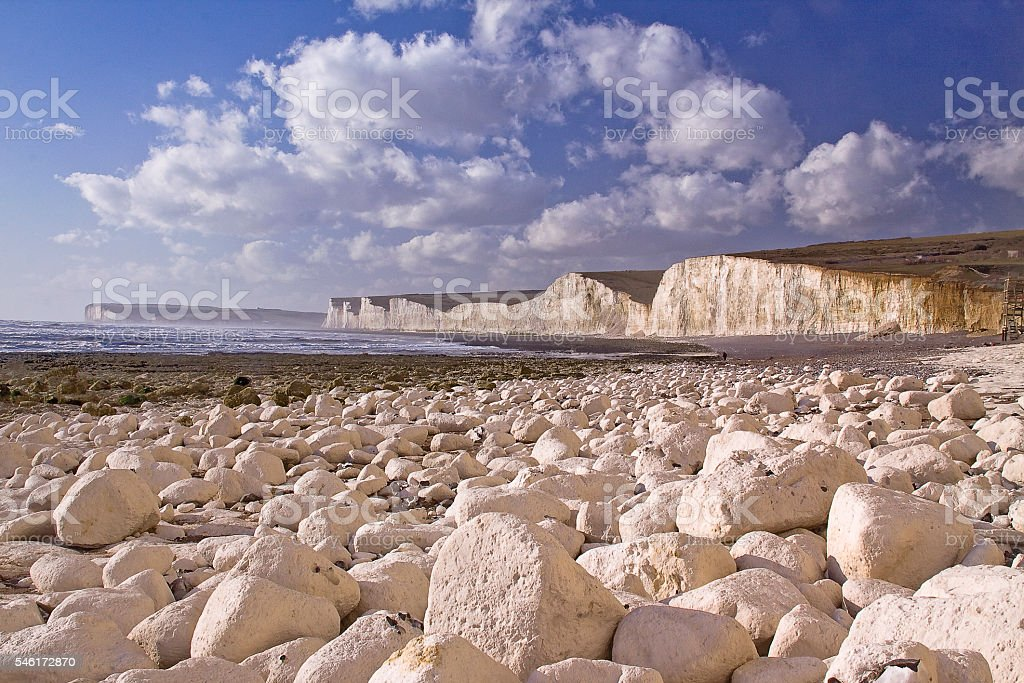 Seven Sister from Birling Gap stock photo