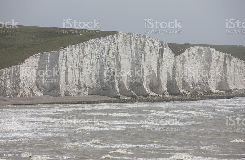 Seven Sisters Chalk Cliffs, Sussex stock photo