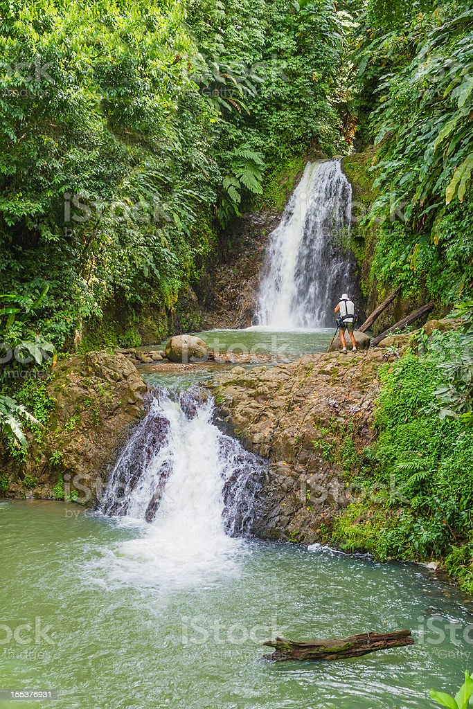 Seven Sisters Falls, Grenada royalty-free stock photo