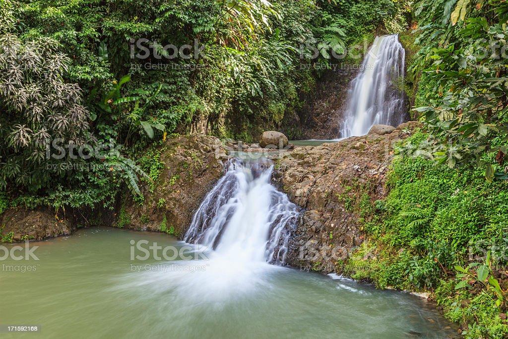 Seven Sisters Falls, Grenada stock photo