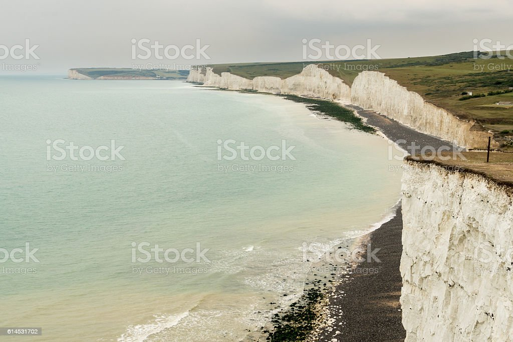 Seven Sisters from Birling Gap near Eastbourne stock photo