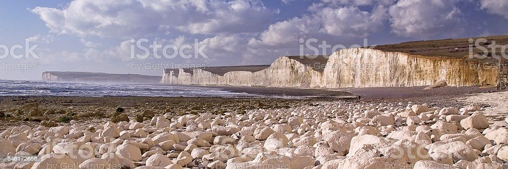 Seven Sisters from Birling Gap stock photo