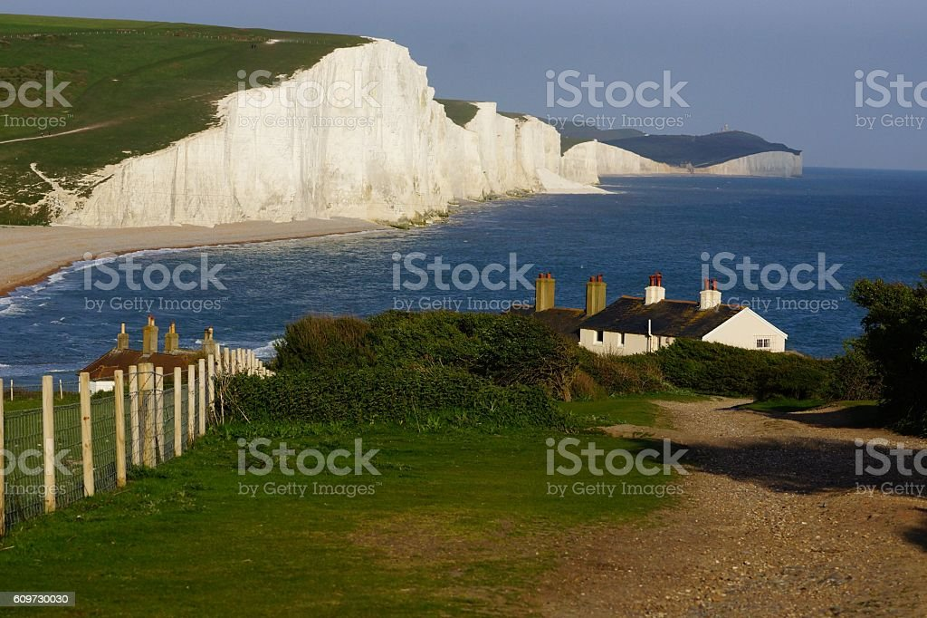 Seven Sisters House stock photo