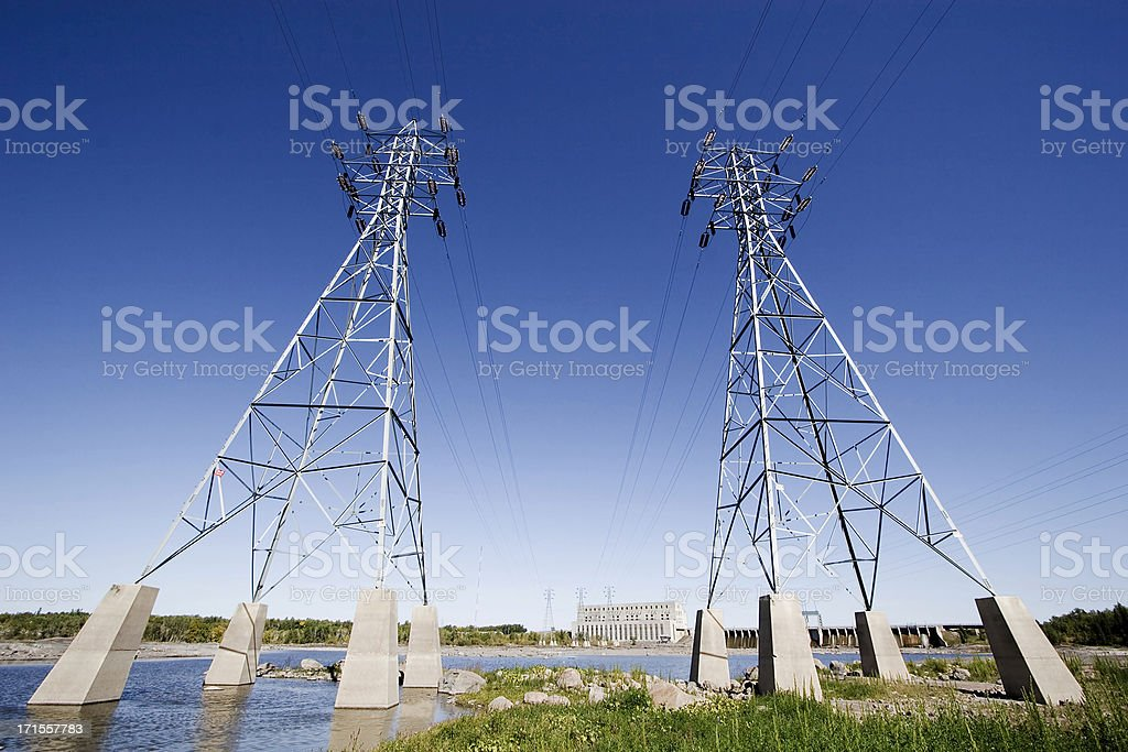 Seven Sisters Hydroelectric Power Generating Station. royalty-free stock photo