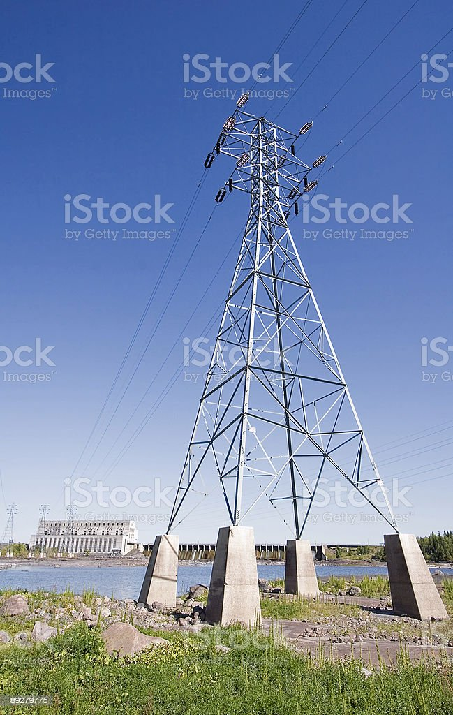 Seven Sisters Hydroelectric Power Generating Station stock photo