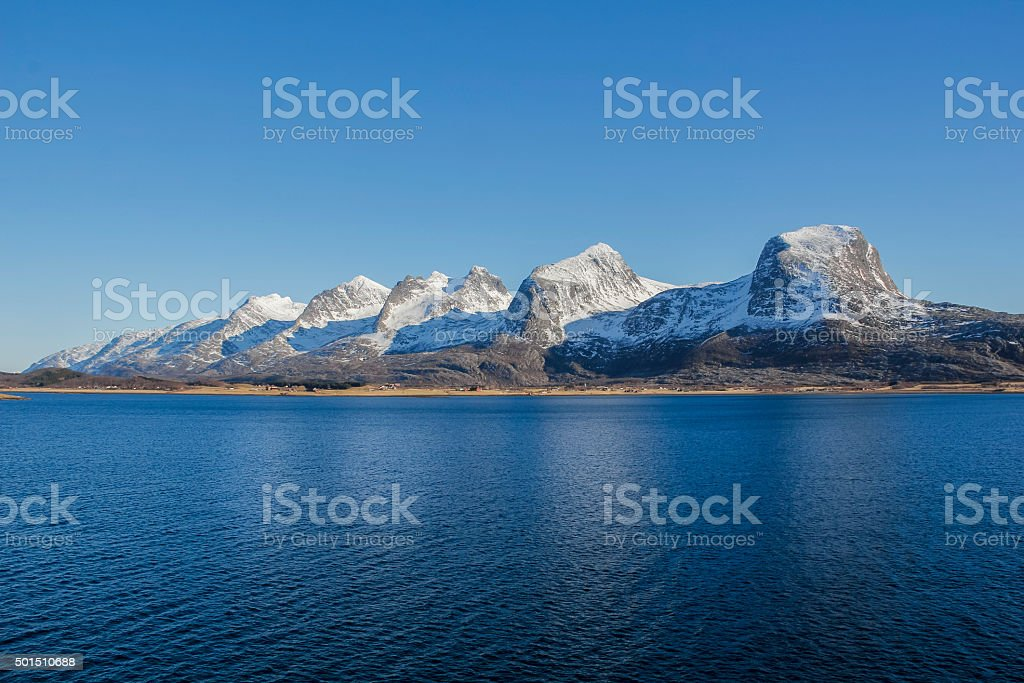 Seven sisters mountain range stock photo