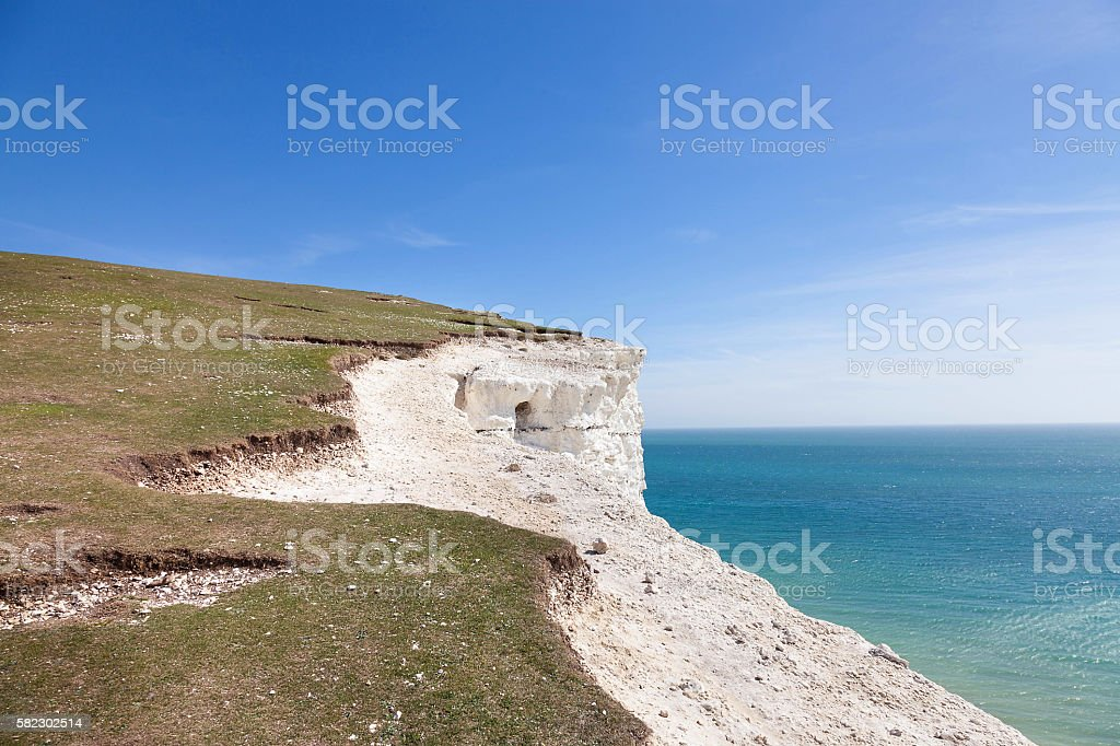 Seven Sisters National park East Sussex England stock photo