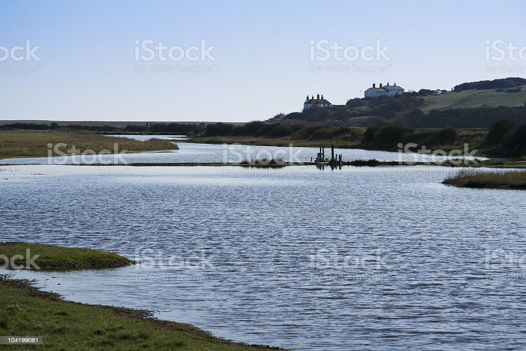 seven sisters national park sussex royalty-free stock photo