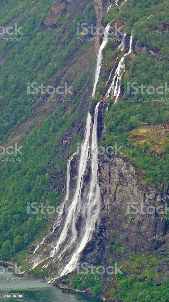 Seven Sisters Waterfall Norway 2 stock photo