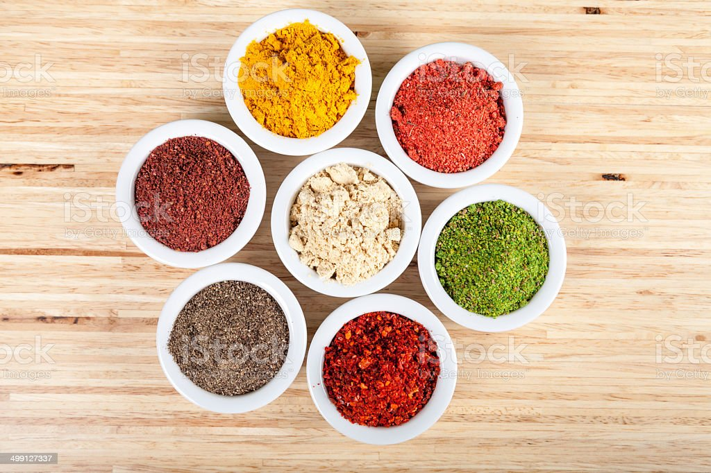 Seven spices royalty-free stock photo
