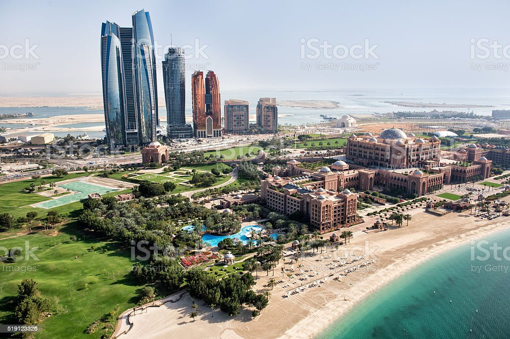 Seven stars hotel in Abu Dhabi stock photo