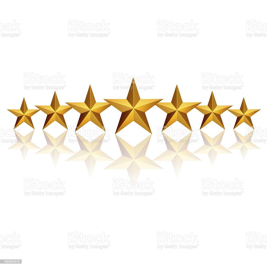 Seven Stars royalty-free stock photo